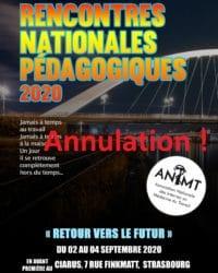 Report à l'année prochaine des Rencontres Nationales Pédagogiques 2020